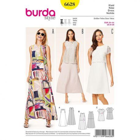 Patron Burda Style 6628 Robe 34/44