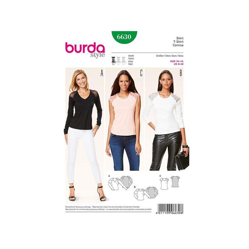 Patron Burda Style 6630 T-shirt 34/44