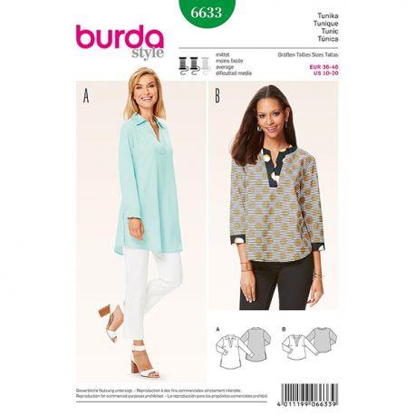 Patron Burda Style 6633 Tunique 36/46