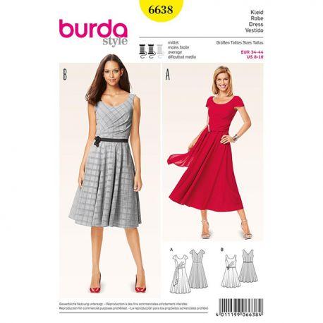 Patron Burda Style 6638 Robe 34/44