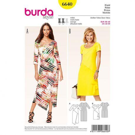 Patron Burda Style 6640 Robe 36/46