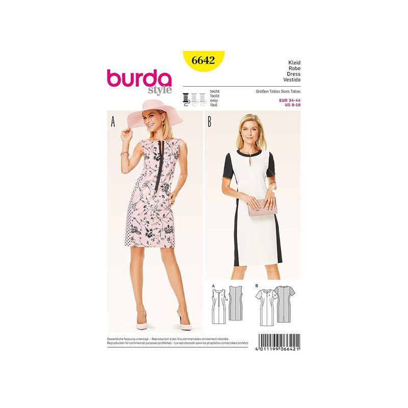 Patron Burda Style 6642 Robe 34/44