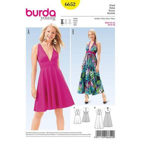 Patron Burda Style 6652 Robe 32/42