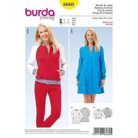Patron Burda Style 6660 Manteau et Veste 34/44