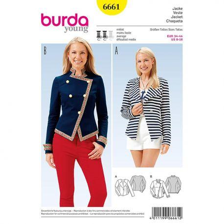 Patron Burda Style 6661 Veste 34/44