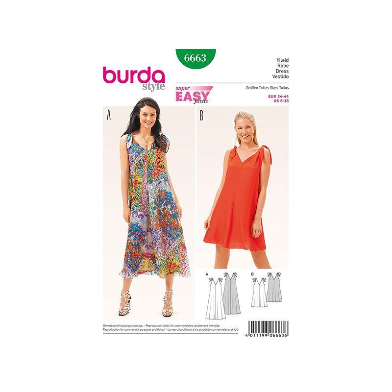 Patron Burda Style 6663 Robe 34/44