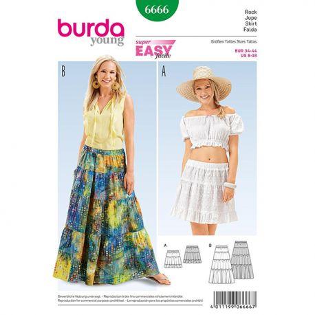 Patron Burda Style 6666 Jupe 34/44