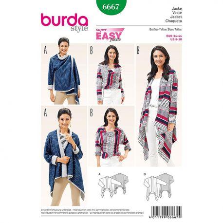 Patron Burda Style 6667 Veste 34/44