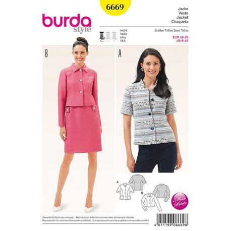 Patron Burda Style 6669 Veste 16/21