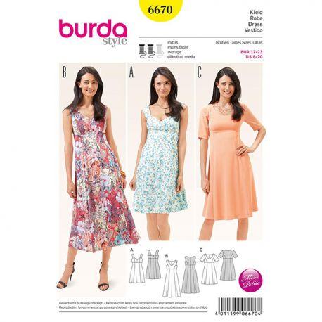 Patron Burda Style 6670 Robe 17/23
