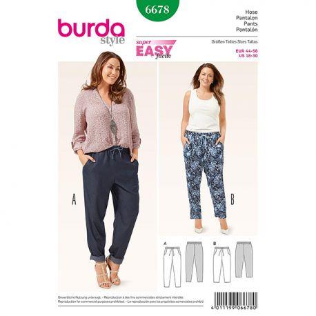 Patron Burda Style 6678 Pantalon 44/56