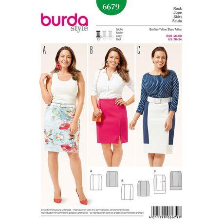 Patron Burda Style 6679 Jupe 46/60