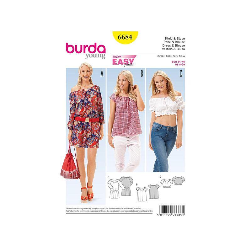 Patron Burda Style 6684 Robe et Blouse 34/46