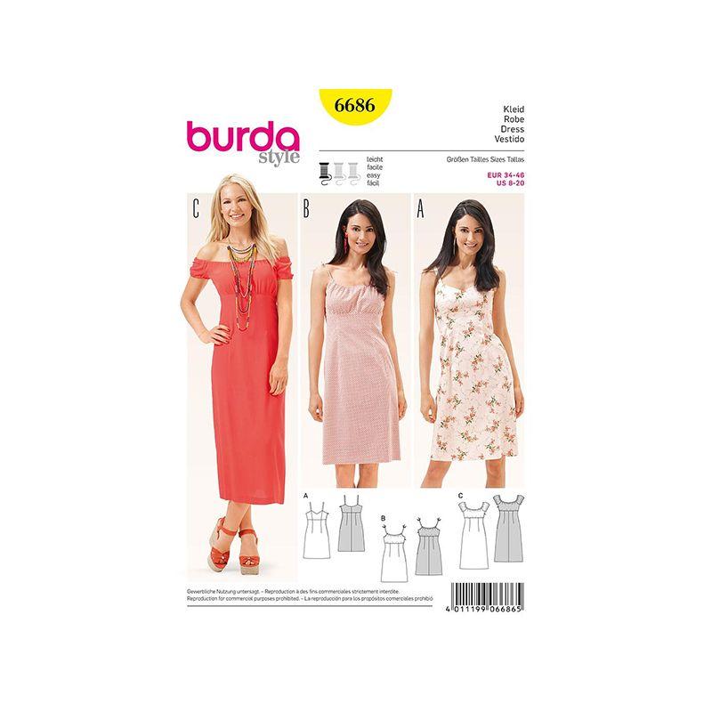 Patron Burda Style 6686 Robe 34/46