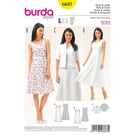 Patron Burda Style 6687 Robe et Veste 36/50