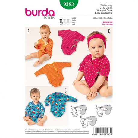 Patron Burda Kids 9383 Body 56/86