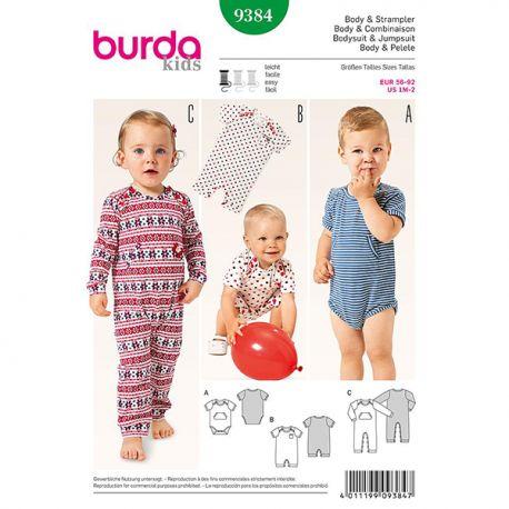 Patron Burda Kids 9384 Body et Combinaison 56/92