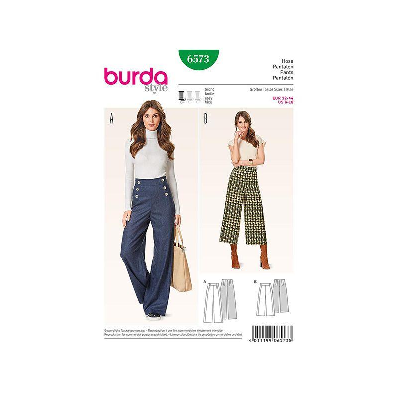 Patron Burda Style 6573 Pantalon Taille 32/44