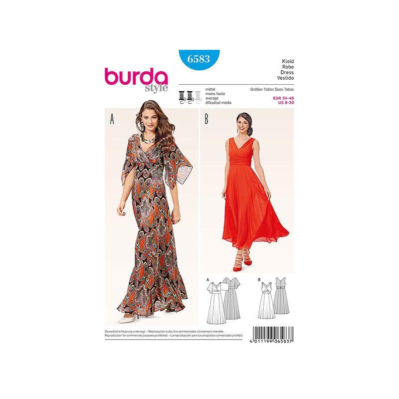 Patron Burda Style 6583 Robe Taille 34/46