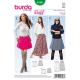 Patron Burda Style 6586 Jupe Taille 32/46