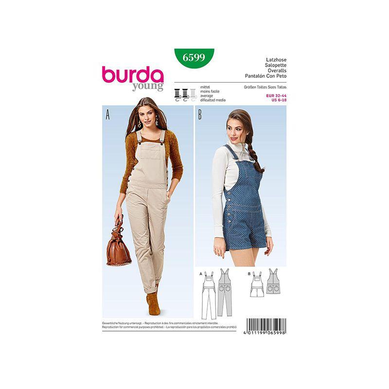 Patron Burda Style 6599 Salopette 32/44