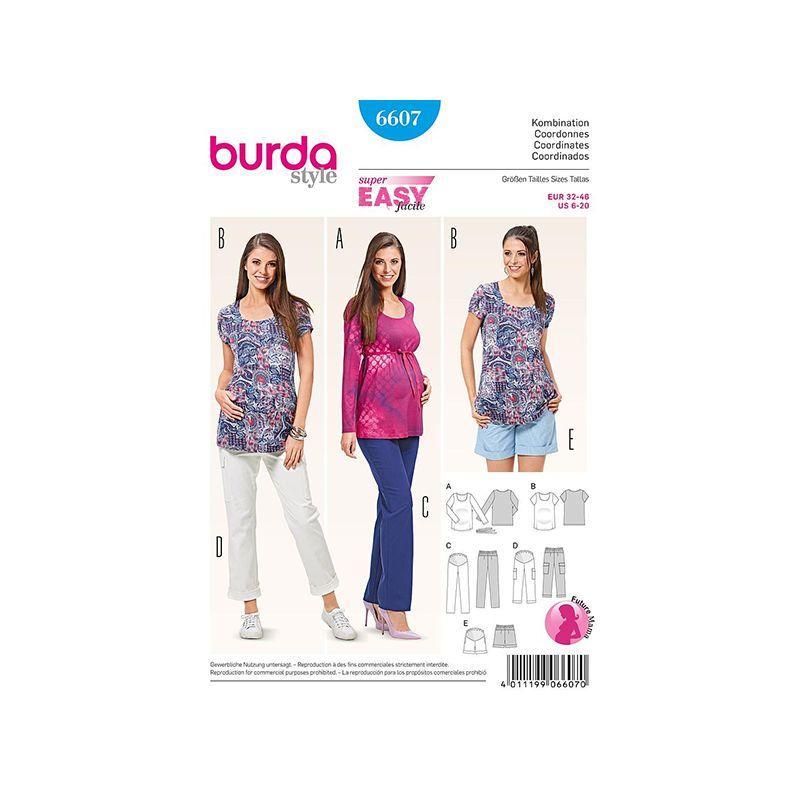 Patron Burda Style 6607 Coordonnées 32/46