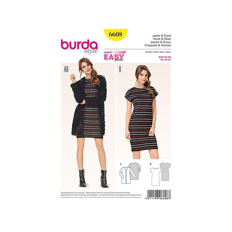 Patron Burda Style 6608 Veste & Robe 34/48