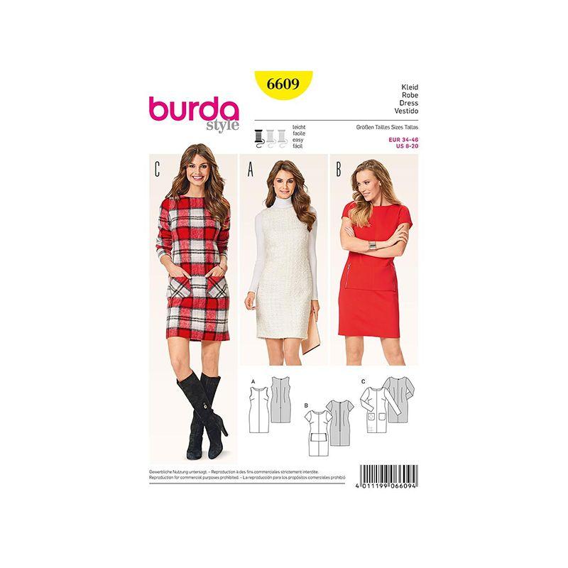 Patron Burda Style 6609 Robe 34/46