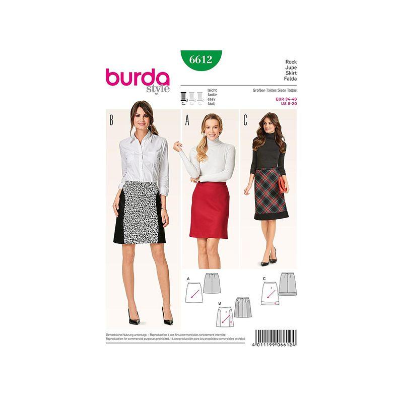 Patron Burda Style 6612 Jupe 34/46