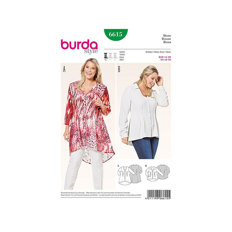 Patron Burda Style 6615 Blouse 44/56