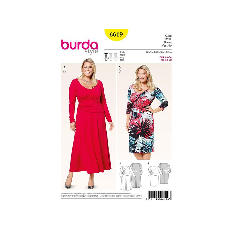 Patron Burda Style 6619 Robe 44/54