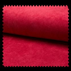 Tissu Veloutine Uni Rouge