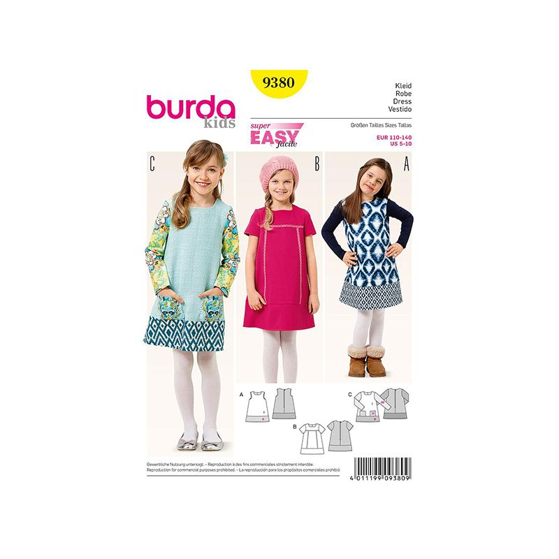 Patron Burda Style 9380 Robe 110/140
