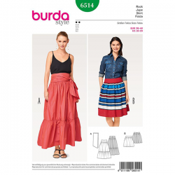 Patron Burdz Style 6514 Jupe