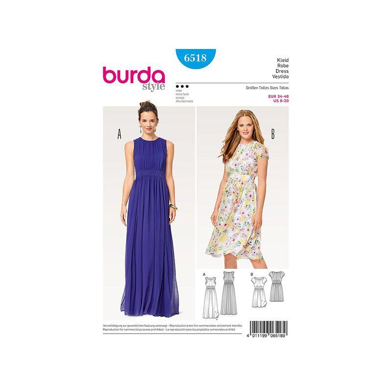 Patron Burda Style 6518 Robe de Soirée