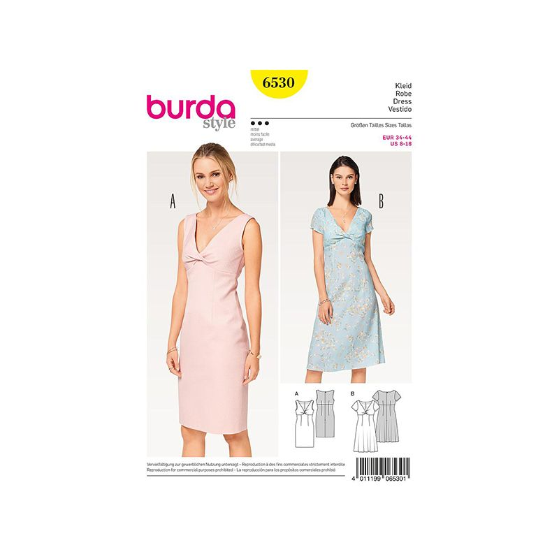 Patron Burda Style 6530 Robe