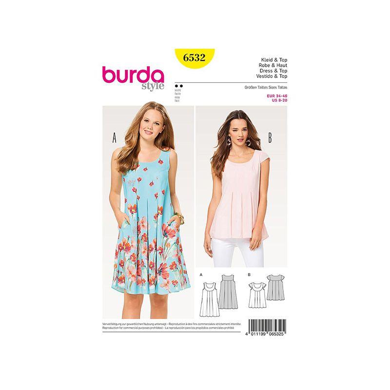 Patron Burda Style 6532 Robe et Haut