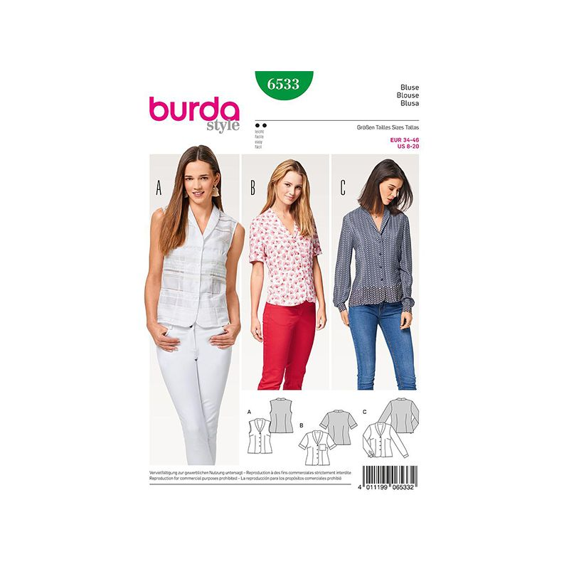 Patron Burda Style 6533 Blouse