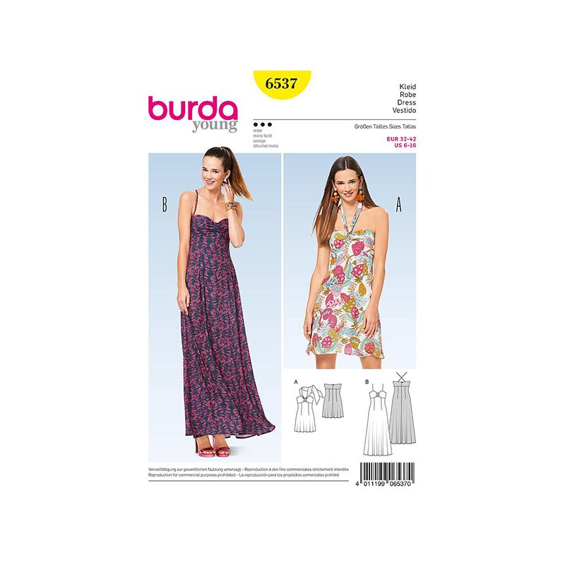 Patron Burda Style 6537 Robe d'été