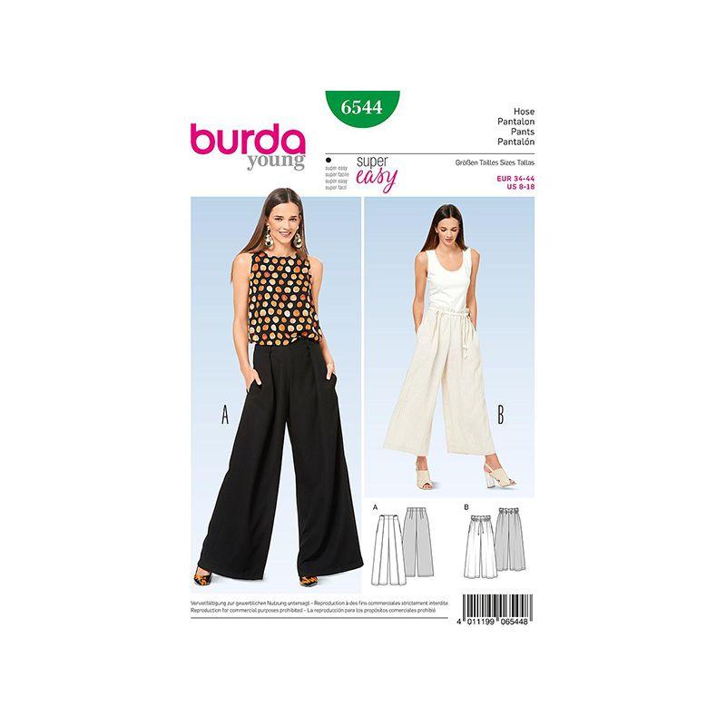 Patron Burda Style 6544 Pantalon Large