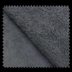 Tissu Eponge Uni Dark Grey