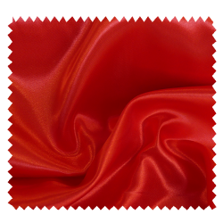 Tissu Satin Uni Rouge
