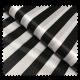 Tissu Satin Déguisement Rayures Noir et Blanc