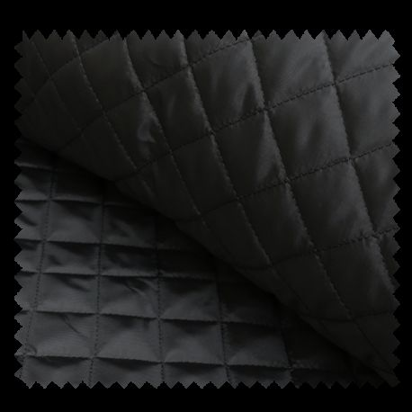 Tissu Doublure Matelassé Noir