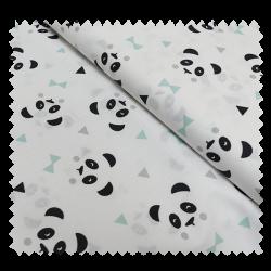 Tissu Panda Blanc