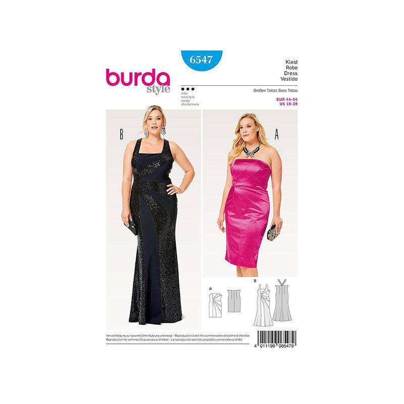 Patron Burda Style 6547 Robe de Soirée