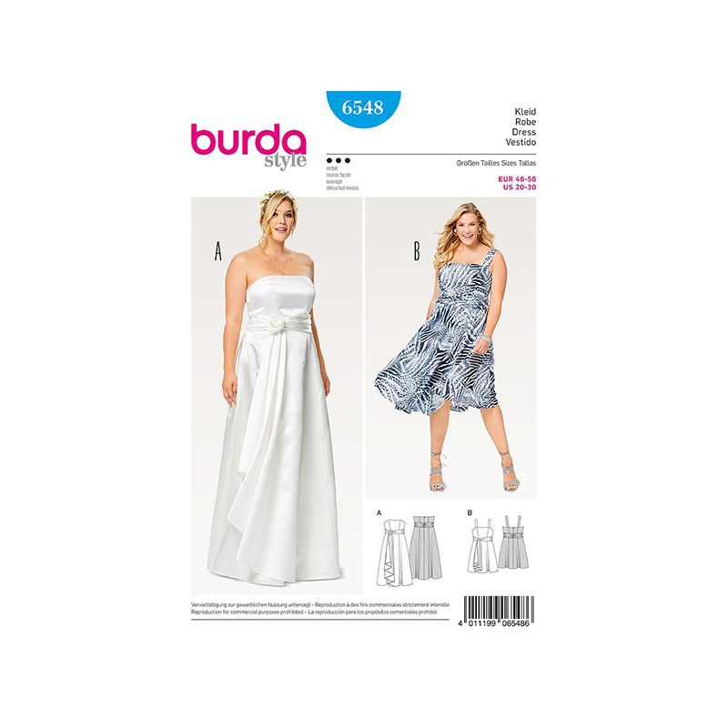 Patron Burda Style 6548 Robe de Soirée