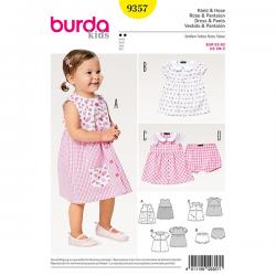 Patron Burda Kids 9357 Robe et Pantalon