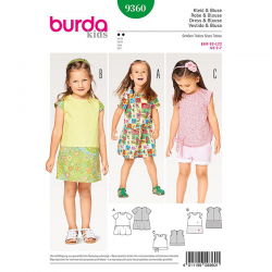 Patron Burda Kids 9360 Robe et Blouse