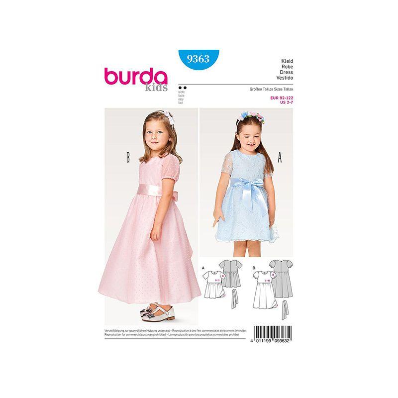 Patron Burda Kids 9363 Robe de Cérémonie